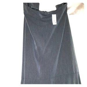 Ashley Stewart Grey long flared skirt